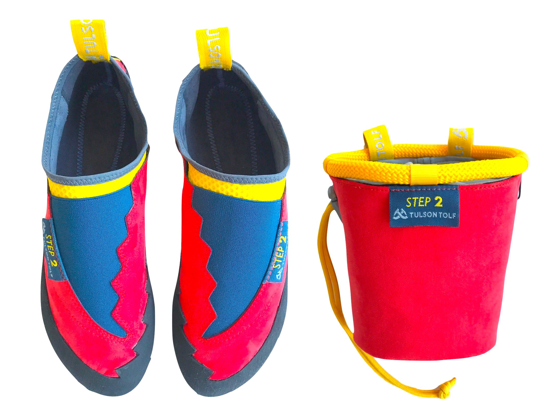 STEP 2 CLIMBING SHOES PIES DE GATO CHALK BAG MAGNESERA